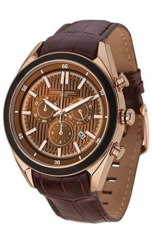 Jorg Gray Herren-Armbanduhr Chronograph Quarz Leder JG6900-21