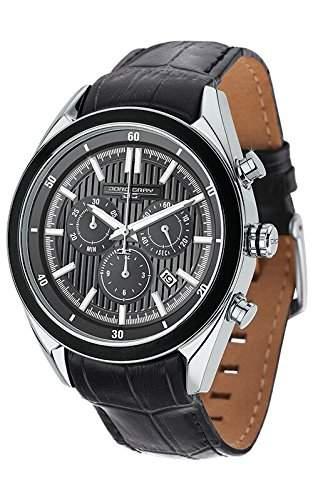 Jorg Gray Herren-Armbanduhr Chronograph Quarz Leder JG9600-23