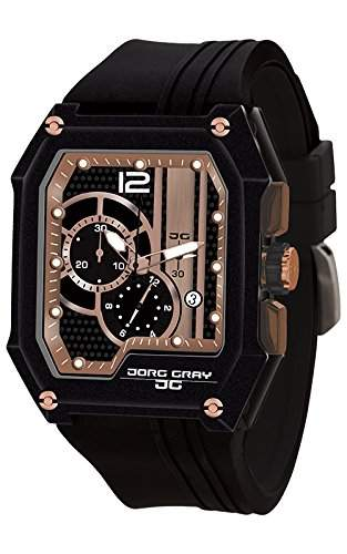 Jorg Gray Herren-Armbanduhr Chronograph Quarz Kautschuk JG7100-21