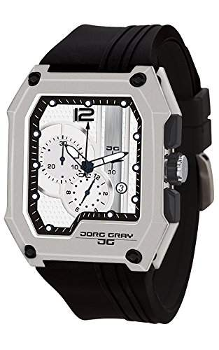 Jorg Gray Herren-Armbanduhr Chronograph Quarz Kautschuk JG7100-22