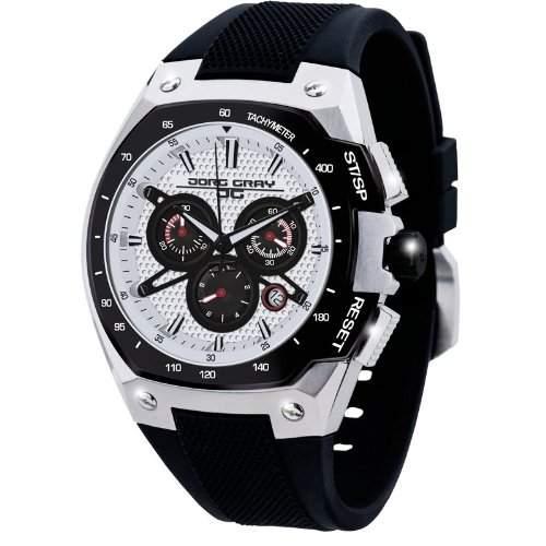 Jorg Gray Herren-Armbanduhr XL Chronograph Silikon JG8300-22