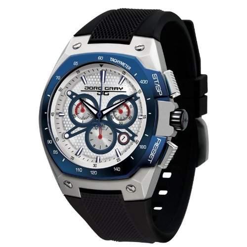 Jorg Gray Herren-Armbanduhr XL Chronograph Silikon JG8300-24