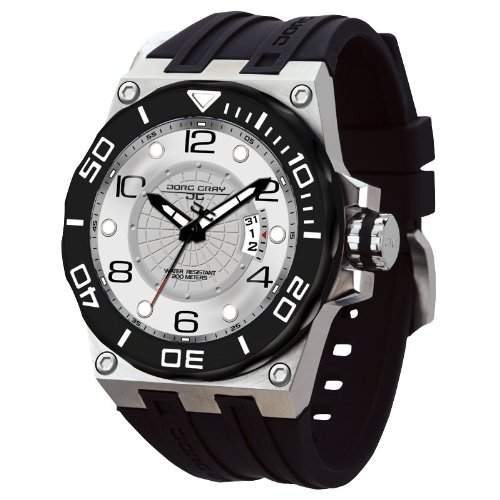 Jorg Gray Herren-Armbanduhr XL Divrers date Display Watch Analog Edelstahl JG9600-11