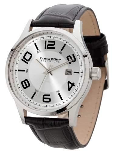 Jorg Gray Herren-Armbanduhr XL Analog Quarz Leder JGS2570