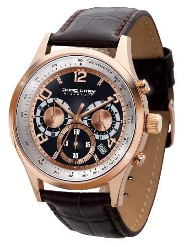 Jorg Gray Herren-Armbanduhr XL Analog Quarz Leder JGS3550