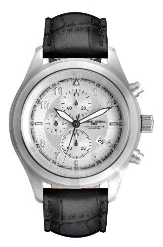 Jorg Gray Chronograph Leder schwarz JG4510