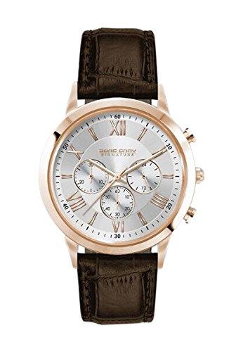 Jorg Gray Herren Armbanduhr Chronograph Leder Braun JGS3580