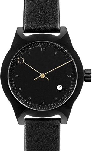 squarestreet sq03 b 09 Unisex Minuteman Acetat Fall Schwarz Leder black watch