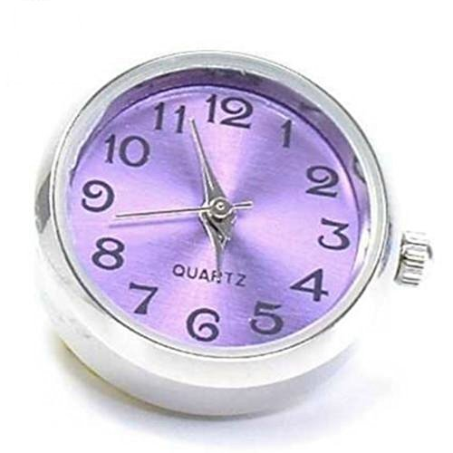 Time4 Charms Chunks Uhr lila fuer Armband Kette BUHR001