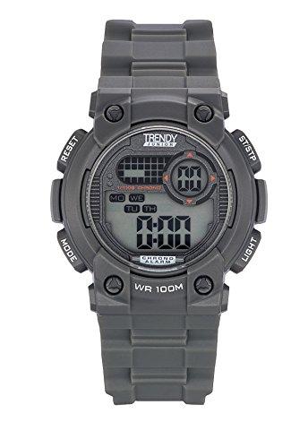 Trendy Junior kl373 Zeigt Jungen Quartz Digital Zifferblatt Grau Armband Kunststoff grau