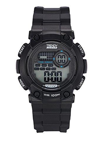 Trendy Junior KL371 Zeigt Jungen Quartz Digital Zifferblatt schwarz Armband Kunststoff schwarz