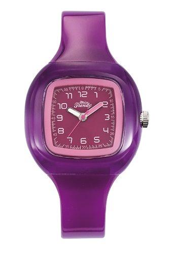 Trendy Junior KL242 Armbanduhr Kinder Quarz Analog Zifferblatt Rosa Armband aus Kunststoff Violett