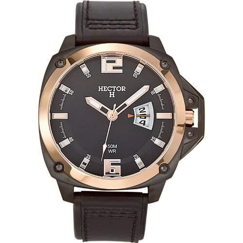 Hector H Herren-Armbanduhr Analog Quarz Leder 665285