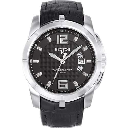 Hector H Herren-Armbanduhr Analog Leder 665308