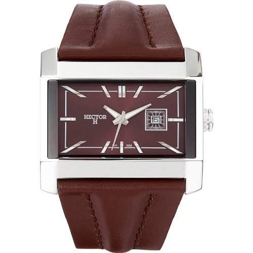 Hector H Herren-Armbanduhr Analog Quarz Leder 665310