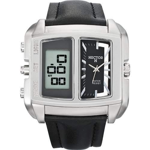 Hector H Herren-Armbanduhr Quarz Schwarz 665357