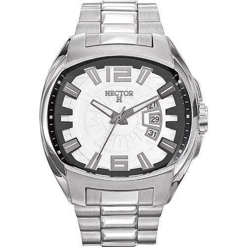 Hector H Herren-Armbanduhr Analog Quarz Silber 667107
