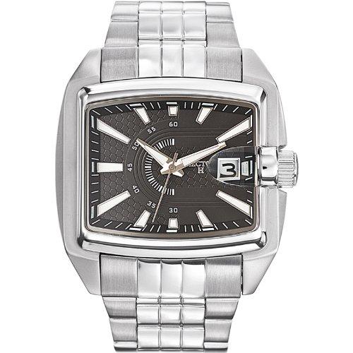 Hector H Herren Armbanduhr Analog Quarz Silber 667105