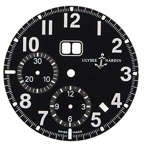 Ulysse Nardin Marine einjaehrig Chronograph 513 22 32 mm schwarz Zifferblatt fuer 40 mm Armbanduhr