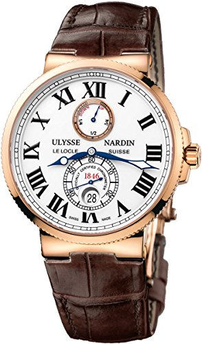 Ulysse Nardin Maxi Marine Chronometer Automatic 18kt Rose Gold Mens Watch 266 67 40