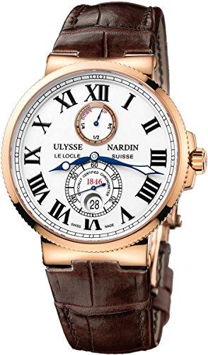 Ulysse Nardin Maxi Marine Chronometer Automatic 18kt Rose Gold Mens Watch 266 67 40