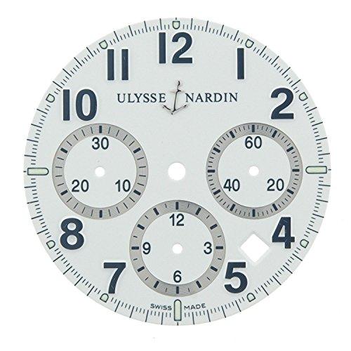 Ulysse Nardin 32 mm weiss Zifferblatt fuer 40 mm fuer 353 88 7 marine Chronograph