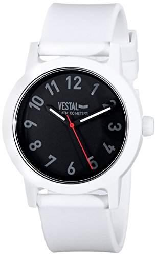 Vestal alp3p01Alpha Bravo Kunststoff Armbanduhr, WeissSchwarz