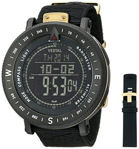 Vestal gdedp06 Guide Armbanduhr Schwarz Gold Negativ