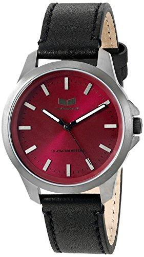 Vestal her3l05 Heirloom Leder Armbanduhr schwarz gun burgund