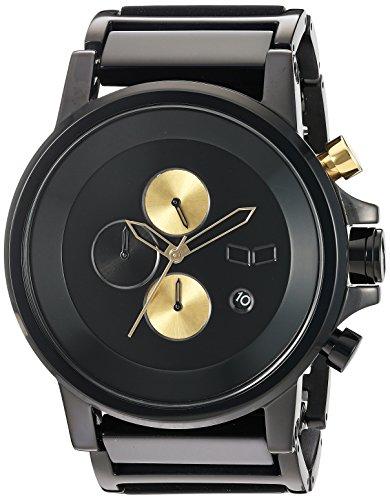 Vestal Plexi Acetat Quarz und stainless steel plated Kleid Uhr Farbe Schwarz Modell pla024