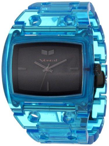 Vestal Unisex Armbanduhr Destroyer Plastic Analog Kunststoff blau DESP025