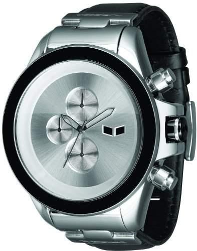 Vestal Herren-Armbanduhr ZR-3 Chronograph Leder schwarz ZR3L001