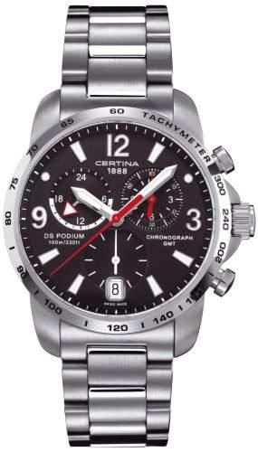 Certina Herren-Armbanduhr XL Chronograph Quarz Edelstahl C0016391105700