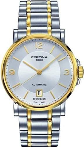 Certina Herren-Armbanduhr XL Analog Automatik Edelstahl C0174072203700