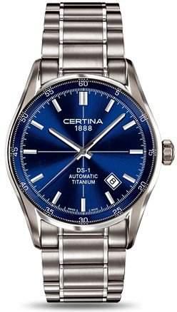 Certina Herren-Armbanduhr XL Analog Automatik Edelstahl C0064074404100