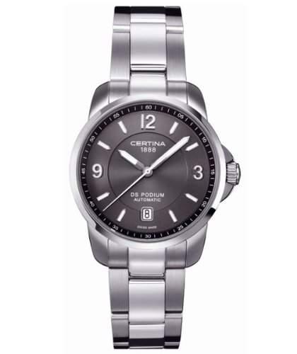 Certina Herren-Armbanduhr XL Analog Automatik Leder C0014071108700