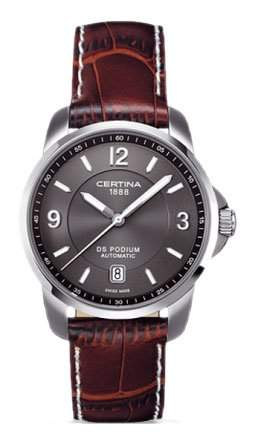Certina Herren-Armbanduhr XL Analog Automatik Leder C0014071608700