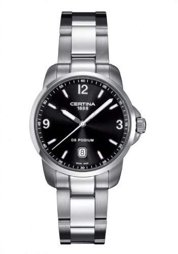 Certina Herren-Armbanduhr XL Analog Quarz Edelstahl C0014101105700