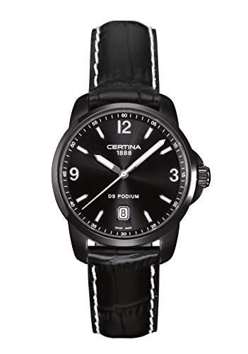 Certina Herren-Armbanduhr XL Analog Quarz Leder C0014101605702