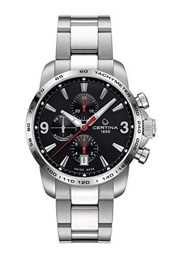 Certina Herren-Armbanduhr XL Chronograph Automatik Leder C0014271105700