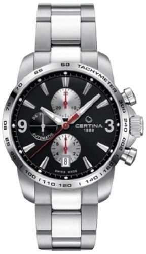 Certina Herren-Armbanduhr XL Chronograph Automatik Edelstahl C0014271105701