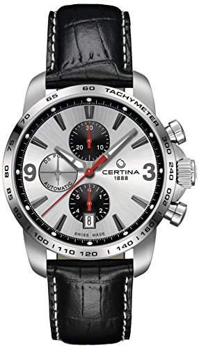 Certina Herren-Armbanduhr XL Chronograph Automatik Leder C0014271603701