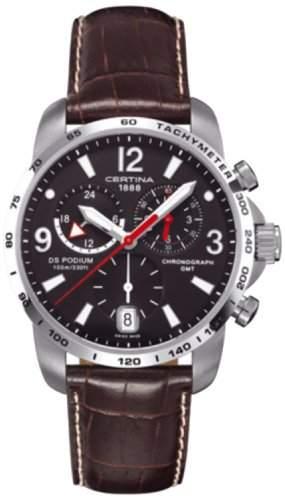 Certina Herren-Armbanduhr XL Chronograph Quarz Leder C0016391605700