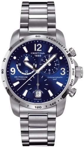 Certina Herren-Armbanduhr XL Chronograph Quarz Edelstahl C0016394404700