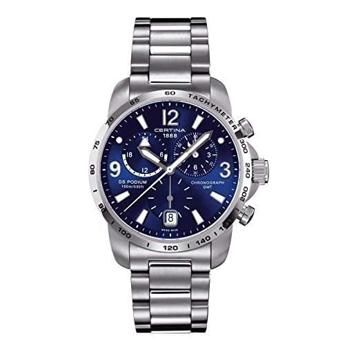 Certina Herren-Armbanduhr XL Chronograph Quarz Edelstahl C0016391104700