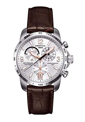 Certina Herren-Armbanduhr XL Chronograph Quarz Leder C0016391603701