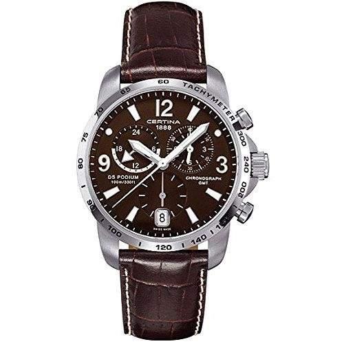 Certina Herren-Armbanduhr XL Chronograph Quarz Leder C0016391629700