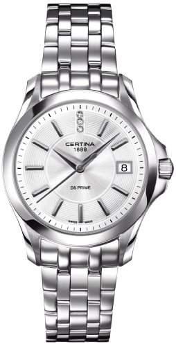 Certina Damen-Armbanduhr XS Analog Quarz Edelstahl C0042101103600
