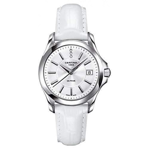 Certina Damen-Armbanduhr XS Analog Quarz Leder C0042101603600