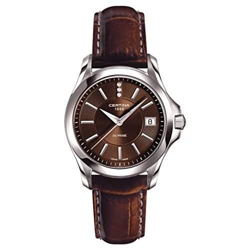 Certina Damen-Armbanduhr XS Analog Quarz Leder C0042101629600
